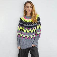 Load image into Gallery viewer, Oversized Fair Isle Crew