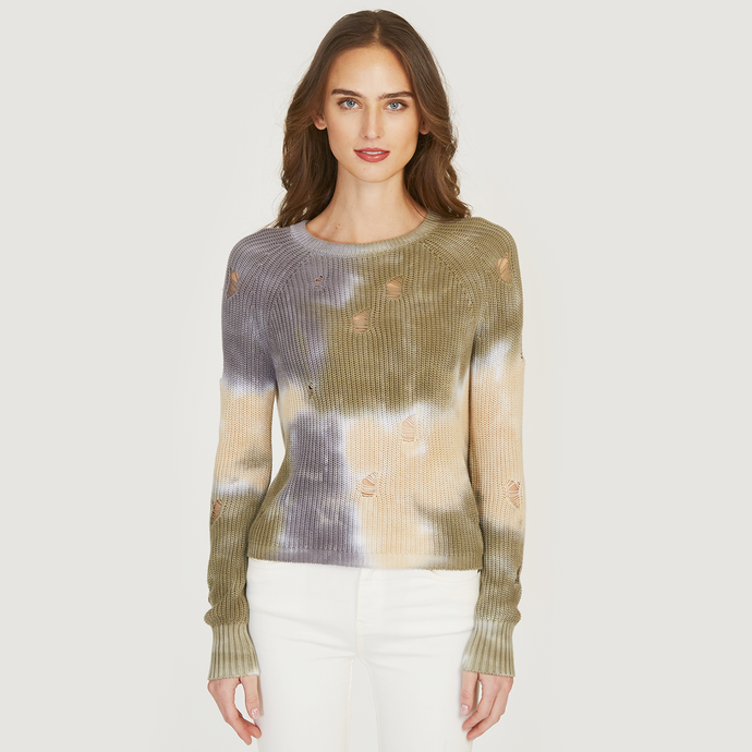 Autumn Cashmere | Distressed Splotch Shaker Crew