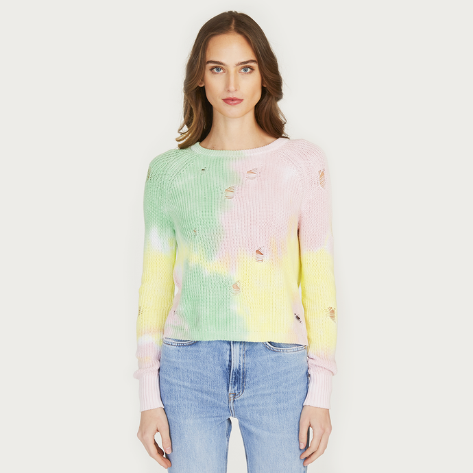 Autumn Cashmere | Distressed Splotch Shaker Crew Pastel