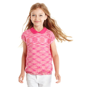 Short Sleeve Top with Peter Pan Collar | Girls' Clothes | Kids Girls Apparel & Clothing | 100% Cotton |  Autumn Cashmere