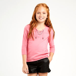 Lace Up Long Sleeve Sweater | Girls' Clothing & Apparel | Kids Pullover | Autumn Cashmere