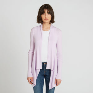 Cotton Rib Drape in Lilac