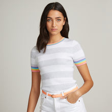 Load image into Gallery viewer, Rib Rugby Stripe Rainbow Crew