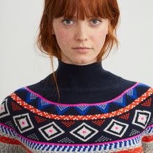 Load image into Gallery viewer, Fair Isle Mock Neck in Mojave Combo