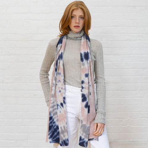 Tie Dye Featherweight Wrap in Neutral Multi