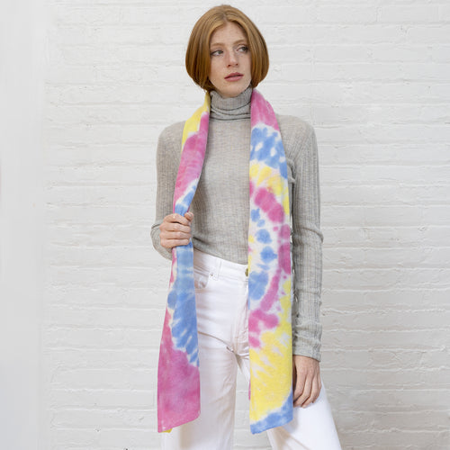 Tie Dye Featherweight Wrap in Pastel Multi
