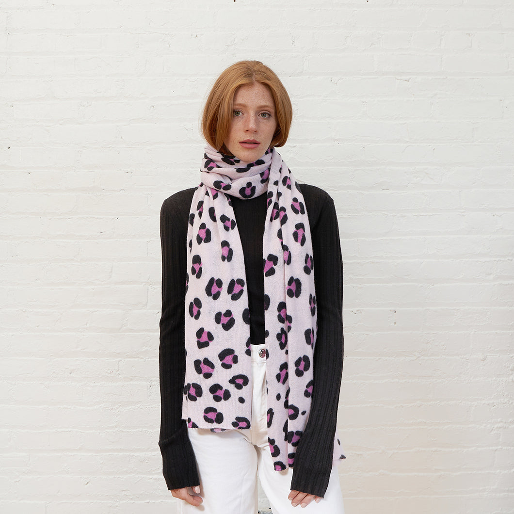 Leopard Print Wrap in Blossom Combo