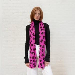 Leopard Print Wrap in Rose Petal Combo