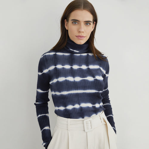 Tie Dye Ribbed Turtleneck