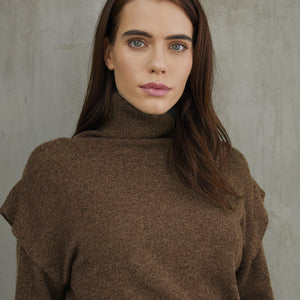 Flange Shoulder Turtleneck