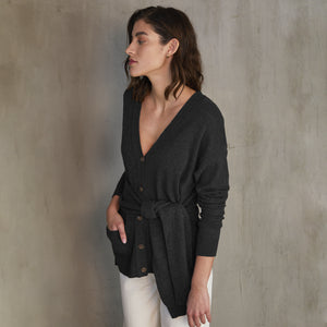 Wrap 'N Tie V Neck Cardigan