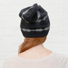 Load image into Gallery viewer, Tie Dye Rib Beanie in Black