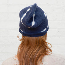 Load image into Gallery viewer, Tie Dye Rib Beanie in Navy