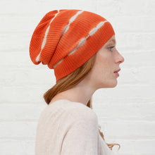 Load image into Gallery viewer, Tie Dye Rib Beanie in Paprika