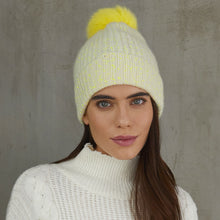 Load image into Gallery viewer, Neon Printed Shaker Hat w/ Pom Pom