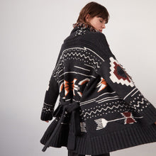 Load image into Gallery viewer, Navajo Belted Jacket with Fringe | Women's Cashmere Jackets & Coats | Autumn Cashmere