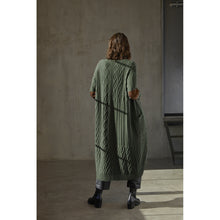 Load image into Gallery viewer, Multi Stitch Patchwork Maxi Cardigan