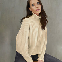 Load image into Gallery viewer, Ribbed Mock Neck Sweater