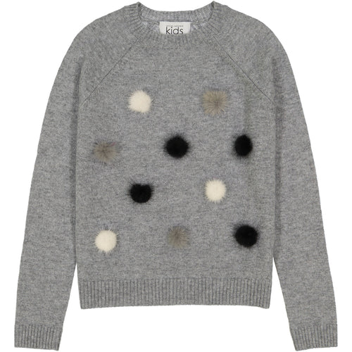 Fur Pom Pom Sweatshirt Sweater | Girls' Clothing & Apparel | Autumn Cashmere