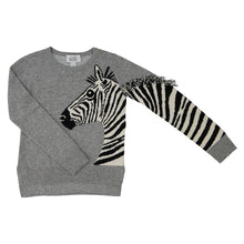 Load image into Gallery viewer, Zebra Crew | Kids Girls Clothing Apparel | Zebra Sweater | Autumn Cashmere