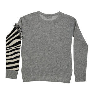 Zebra Crew | Kids Girls Clothing Apparel | Zebra Sweater | Autumn Cashmere