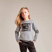 Load image into Gallery viewer, Rock N Roll Crew With Elbow Slits | Rock N Roll Sweater | Kids Clothing & Apparel | Autumn Cashmere