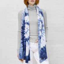 Load image into Gallery viewer, Tie Dye Scarf in Blues