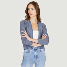 Load image into Gallery viewer, Easy Crop Cardigan in Denim