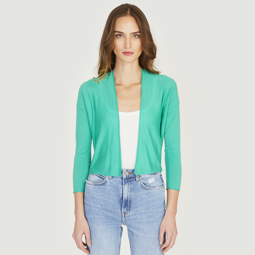 Easy Crop Cardigan in Spearmint