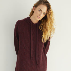 Distressed Shaker Hoodie Tunic Dress