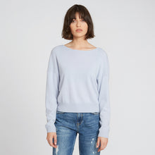 Load image into Gallery viewer, Cashmere Rib Shoulder Scoop Neck in Misty
