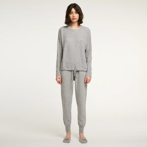 Cashmere Jogger in Grey