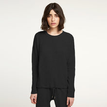 Load image into Gallery viewer, Cashmere Waffle Top in Black