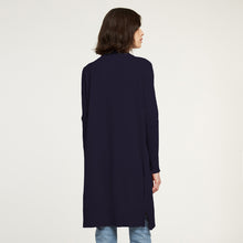 Load image into Gallery viewer, Cotton Maxi Open Cardigan in Navy