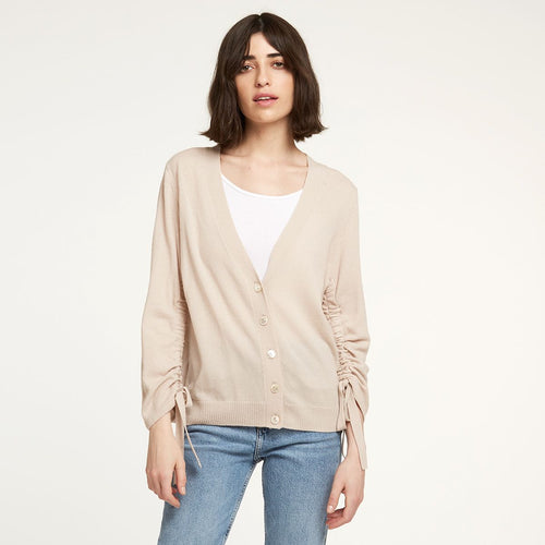 Cashmere Cardigan with Drawstring Sleeves | Autumn Cashmere