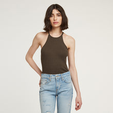 Load image into Gallery viewer, Cotton Rib Halter in Army Green