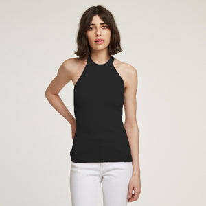 Racerback Halter in Black | Autumn Cashmere