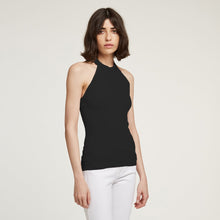 Load image into Gallery viewer, Racerback Halter in Black | Autumn Cashmere