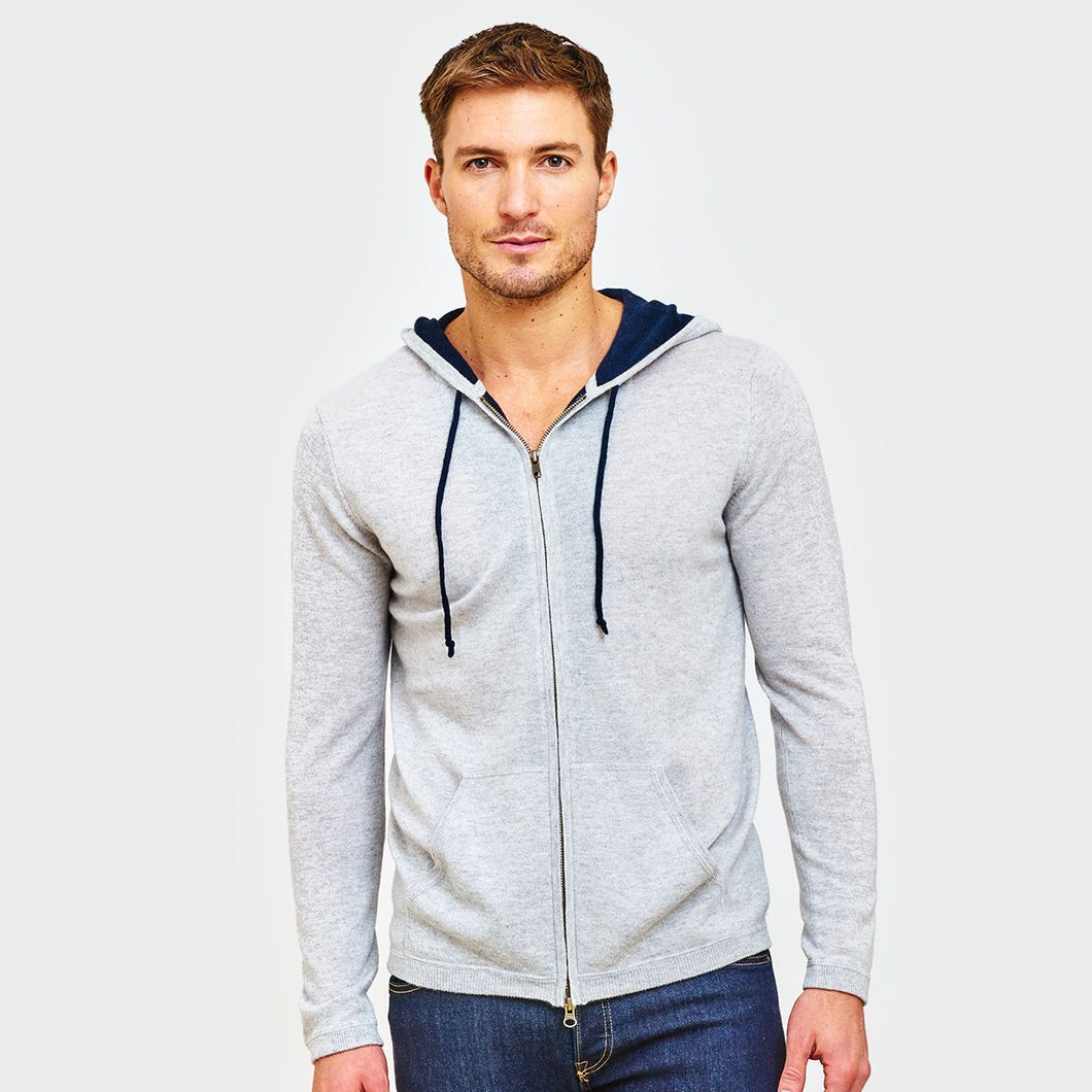 Cashmere Hoodie with Contrast Lining | Men's Sweaters & Pullovers | Autumn Cashmere