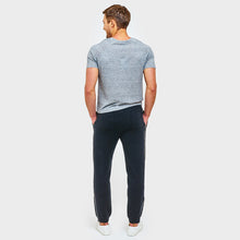 Load image into Gallery viewer, Cashmere Jogger with Leather Stripe in Black | Autumn Cashmere