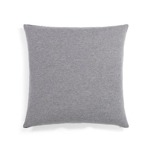 Two-Tone Cashmere Pillow in Black/Grey