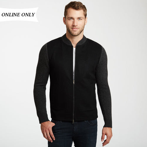 100% Cashmere Zip Up Jacket