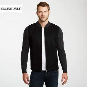 Cashmere Zip Up Jacket | Mens Bomber Coat | Golfer Jacket | Autumn Cashmere