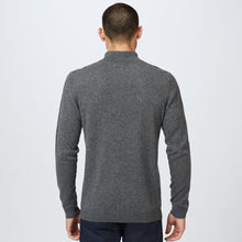 Load image into Gallery viewer, 1/2 Zip Mock Neck Pullover in Grey | Autumn Cashmere