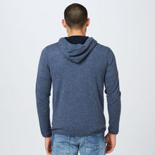 Load image into Gallery viewer, Cashmere Full Zip Hoodie in Dark Blue | Men's Hoodies & Sweaters | Autumn Cashmere