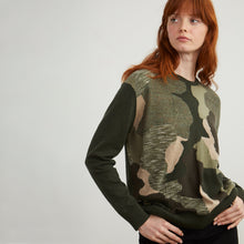 Load image into Gallery viewer, Oversized Camo Cotton Pullover | Autumn Cashmere