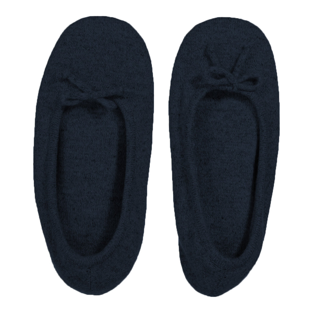 Cashmere Slippers in Navy