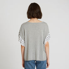Load image into Gallery viewer, Cotton Ruffle Tee with Stripes in Sweatshirt