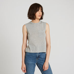 Cotton Muscle Tee with Pocket in Sweatshirt