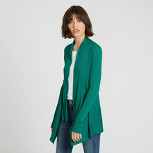Load image into Gallery viewer, Cotton Rib Drape Cardigan in Green by Autumn Cashmere | Women's Clothing & Knitwear